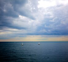 Sail Boats on the English Channel II by Reuben Reynoso