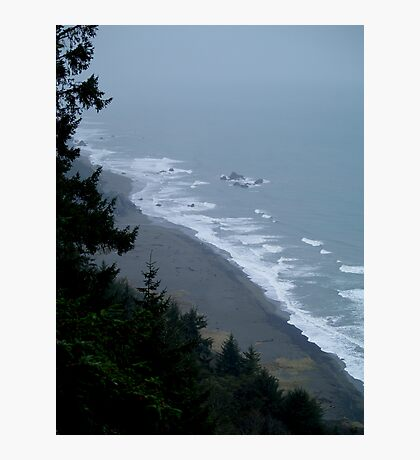 Ocean View from an Oregon Cliff Photographic Print