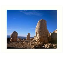 Statues of the Gods at Nemrut Dag Art Print