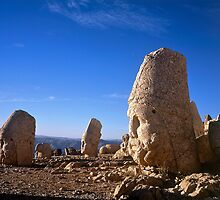 Statues of the Gods at Nemrut Dag by Alex Cassels