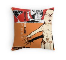 reaching for raven Throw Pillow
