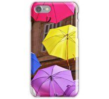 Umbrella street, Arles iPhone Case/Skin