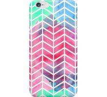 Bright Colorful Watercolor Split Chevron iPhone Case/Skin