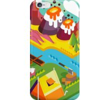 Mountain Flat Landscape with Tents iPhone Case/Skin