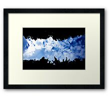 Blue sky lane with clouds - Paris Framed Print