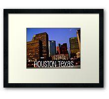 Houston edited Framed Print