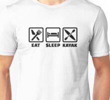 Eat Sleep Kayak Unisex T-Shirt