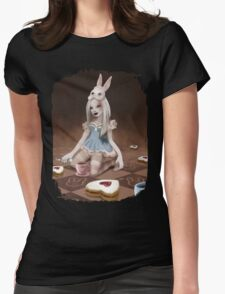 Rabbits Tea Party Womens Fitted T-Shirt