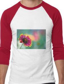 California Blanket Flower Men's Baseball ¾ T-Shirt