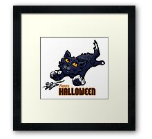 Spooky Animals Cat and Mouse Framed Print