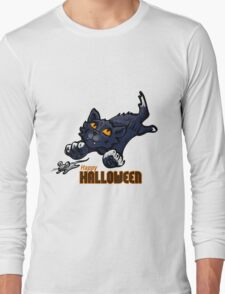 Spooky Animals Cat and Mouse Long Sleeve T-Shirt