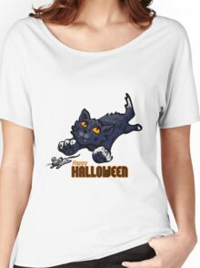 Spooky Animals Cat and Mouse Women's Relaxed Fit T-Shirt