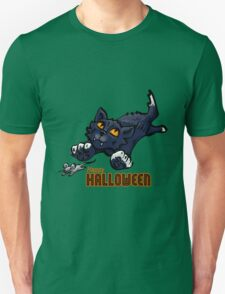 Spooky Animals Cat and Mouse Unisex T-Shirt