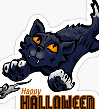 Spooky Animals Cat and Mouse Sticker