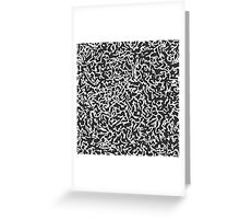 Contemporary White and Black Scribbles Pattern Greeting Card