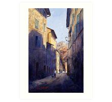 Narrow Lane Siena, Italy Art Print
