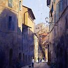 Narrow Lane Siena, Italy by Joe Cartwright