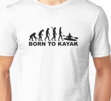 Evolution born to Kayak Unisex T-Shirt