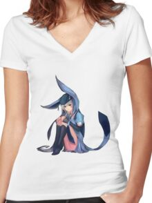 Glaceon x Weiss Women's Fitted V-Neck T-Shirt