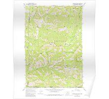 USGS Topo Map Washington Deadman Peak 240796 1967 24000 Poster
