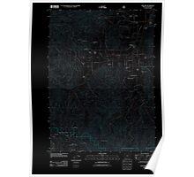 USGS Topo Map Oregon Williams 20110713 TM Inverted Poster