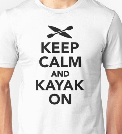 Keep calm and Kayak on Unisex T-Shirt