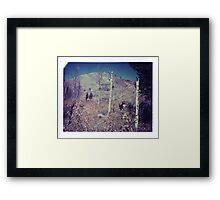 Cowboy Bill and the birches Framed Print