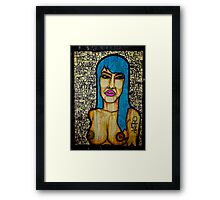 Graffiti Woman- Paris Framed Print