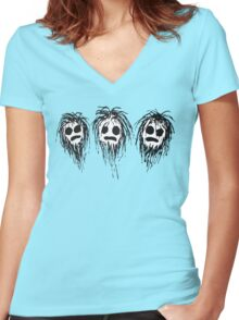 Shaggy heads Women's Fitted V-Neck T-Shirt