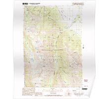 USGS Topo Map Oregon Chief Joseph Mtn 279332 1990 24000 Poster