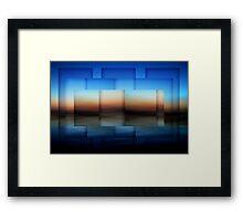 Computer Blue Framed Print