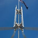 Flagpole on top of the House by clearviewstock