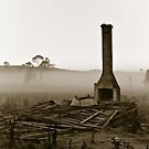 Huff and Puff at Dawn in Sepia by clearviewstock
