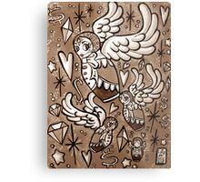 (Sepia) Wings of Desire Metal Print