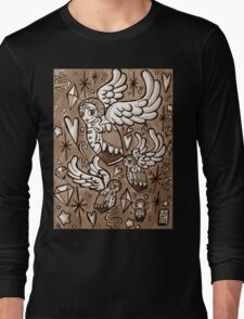 (Sepia) Wings of Desire Long Sleeve T-Shirt