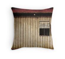 Shearing Shed Wall & Window Throw Pillow