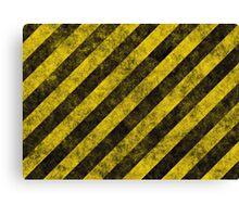 hazard stripes Canvas Print