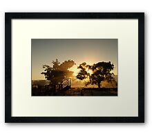 Cattle Sunrise 3 - Parkes, NSW Framed Print