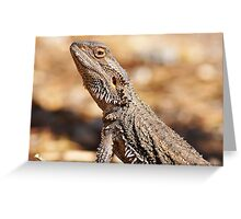 Central Bearded Dragon - Side Profile Greeting Card
