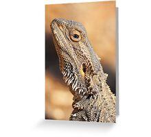 Central Bearded Dragon - Head closeup Greeting Card