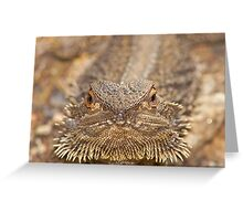 Hey Grumpy! Central bearded dragon Greeting Card