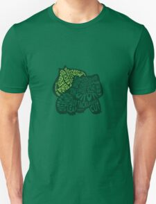 Bulbasaur Typography Silhouette (Pokémon) T-Shirt