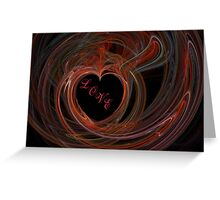 Heart a Flame with LOVE Greeting Card