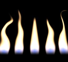 Flickering Flames by clearviewstock