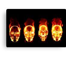 Flaming Skulls Canvas Print