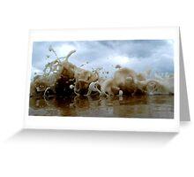 Clouds Sea Sand 9 Greeting Card