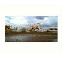 Clouds Sea Sand 13 Art Print