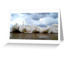Clouds Sea Sand 14 Greeting Card