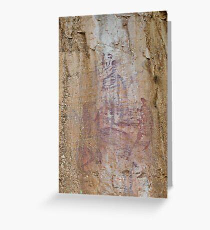 Rock Art 2 - Katherine Gorge, NT. Greeting Card