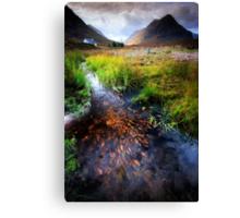Lagangarbh stream, Glencoe, Argyll Canvas Print